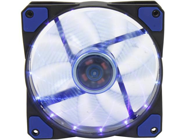 APEVIA CF12SL-SBL 120mm Blue LED Case Fan w/ Anti-Vibration Rubber Pads - Retail