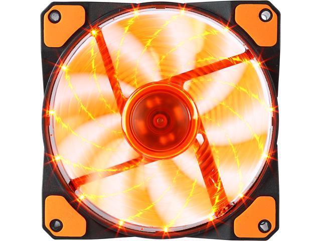 APEVIA CF12SL-SOG 120mm Orange LED Case Fan w/ Anti-Vibration Rubber Pads