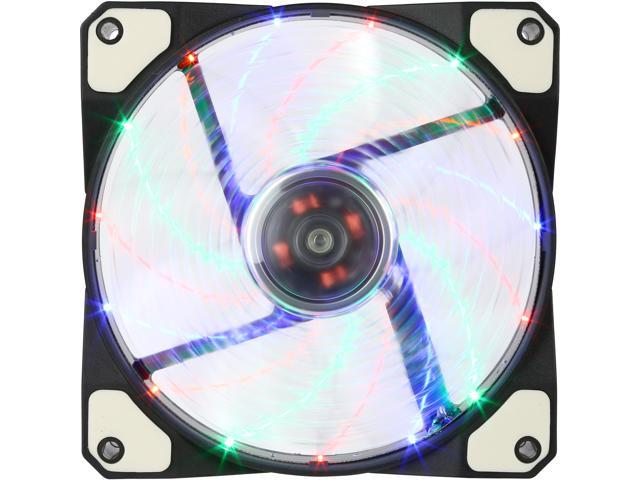 APEVIA CF12SL-S4C 120mm Multi-Color LED Case Fan w/ Anti-Vibration Rubber Pads