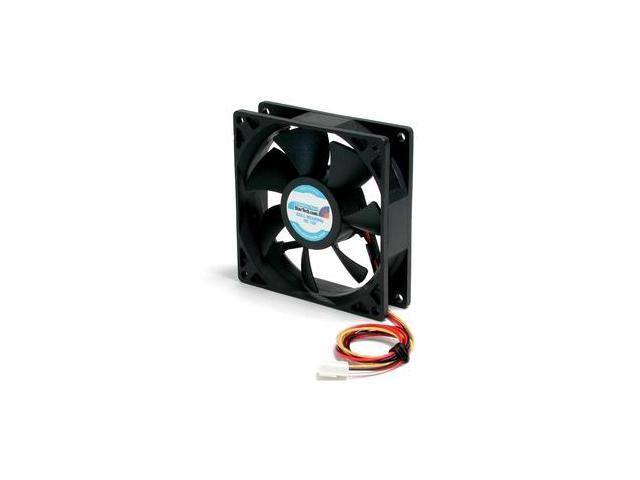 StarTech.com 90x25mm High Air Flow Dual Ball Bearing Computer Case Fan with TX3 Cooling Fan - Black (FAN9X25TX3H)