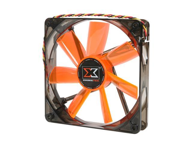 XIGMATEK FCB (Fluid Circulative Bearing) Cooling System XLF XLF-F1453 140mm LED Orange Case Fan PSU Molex Adapter/extender included