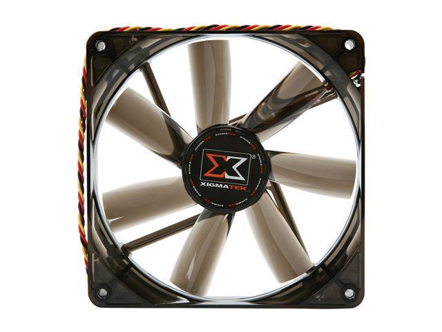 XIGMATEK FCB (Fluid Circulative Bearing) Cooling System XLF XLF-F1455 140mm White LED Black  Case Fan PSU Molex Adapter/extender included
