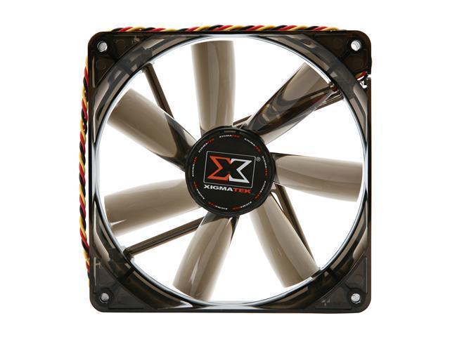 XIGMATEK FCB (Fluid Circulative Bearing) Cooling System XLF XLF-F1455 140mm White LED Black  Case Fan PSU Molex Adapter/extender included