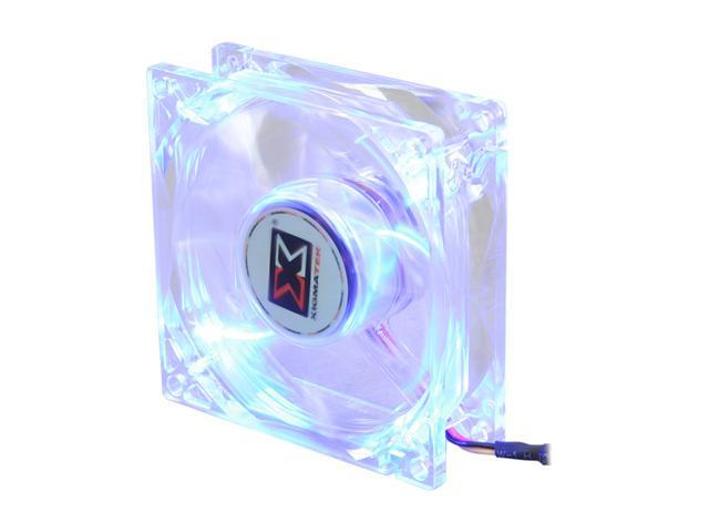 XIGMATEK FCB (Fluid Circulative Bearing) Cooling System Crystal Series CLF-F8251 80mm Blue LED Case Fan PSU Molex Adapter/extender included