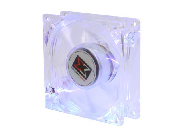 XIGMATEK FCB (Fluid Circulative Bearing) Cooling System Crystal Series CLF-F8255 80mm Purple LED Case Fan PSU Molex Adapter/extender included