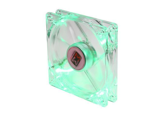 XIGMATEK FCB (Fluid Circulative Bearing) Cooling System Crystal Series CLF-F1253 120mm Green LED Case Fan PSU Molex Adapter/extender included
