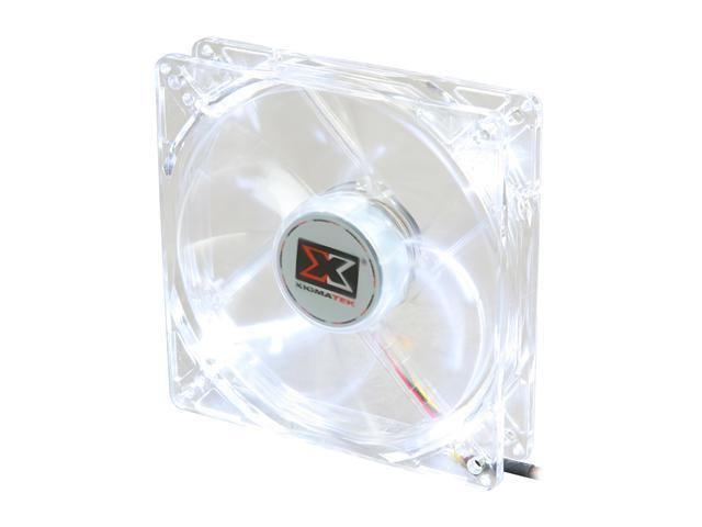XIGMATEK FCB (Fluid Circulative Bearing) Cooling System Crystal Series CLF-F1254 120mm White LED Case Fan  PSU Molex Adapter/extender included