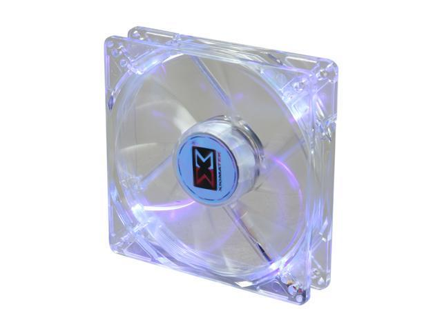XIGMATEK FCB (Fluid Circulative Bearing) Cooling System Crystal Series CLF-F1255 120mm Purple LED Case Fan PSU Molex Adapter/extender included