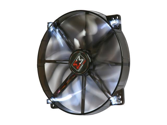 XIGMATEK FCB (Fluid Circulative Bearing) Cooling System XLF XLF-F1704 170mm White LED Black Case Fan PSU Molex Adapter/extender included