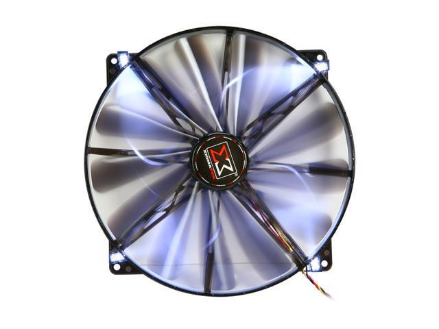 XIGMATEK FCB (Fluid Circulative Bearing) Cooling System XLF XLF-F2004 200mm White LED Black Case Fan PSU Molex Adapter/extender included
