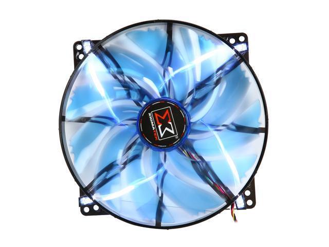XIGMATEK FCB (Fluid Circulative Bearing) Cooling System XLF XLF-F2006 200mm LED Blue Case Fan PSU Molex Adapter/extender included