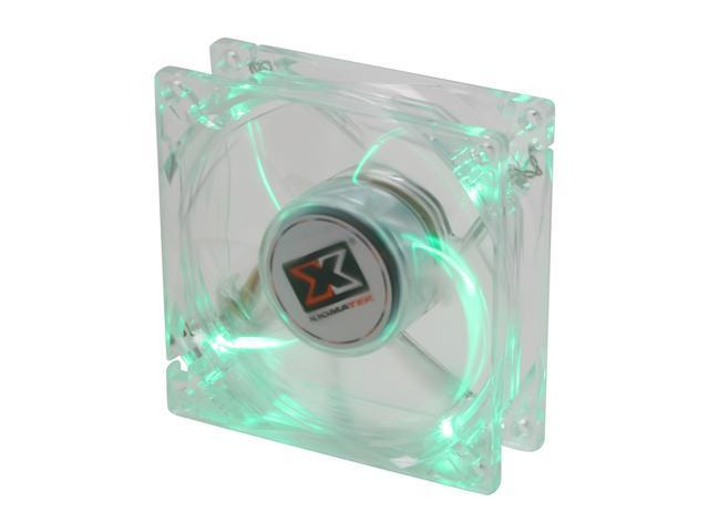 XIGMATEK FCB (Fluid Circulative Bearing) Cooling System Crystal Series CLF-F8253 80mm Green LED Case Fan