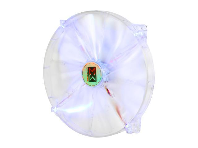 XIGMATEK FCB (Fluid Circulative Bearing) LED Fan Crystal series CLF-F2001 200mm Blue LED Case Fan Molex Adapter/extender included