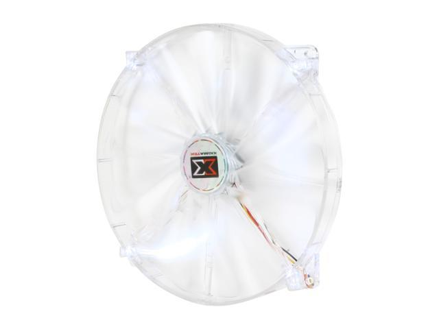 XIGMATEK FCB (Fluid Circulative Bearing) LED Fan Crystal series CLF-F2004 200mm White LED Case Fan  Molex Adapter/extender included