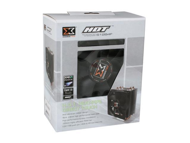 XIGMATEK HDT-S1284F 120mm HYPRO Bearing CPU Cooler