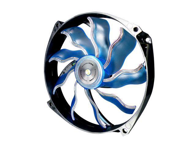 XIGMATEK AOS (Aeronautical Oil System Bearing) XAF-F1456 140mm White LED Blue Case Fan Ultra Quiet Copper Bushing Axis Aeronautical Oil System Bearing