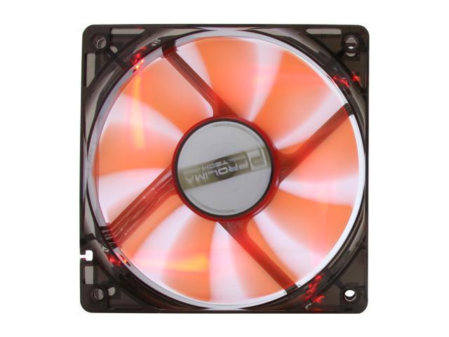 Prolimatech PRO-RV12LED 120mm Red LED Red Vortex 12 LED Case Cooler