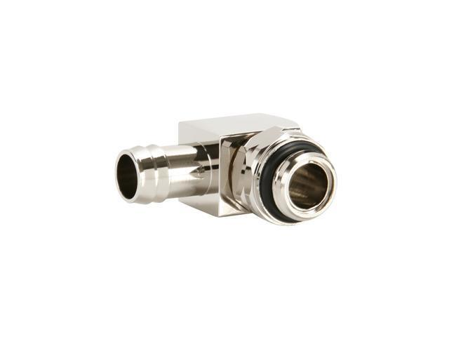 "Enzotech RCPS-G1/4-38 90° Rotary Joint ID 3/8"" Thread Type G1/4"" Finish Nickel Plate (Metallic Silver) - OEM"