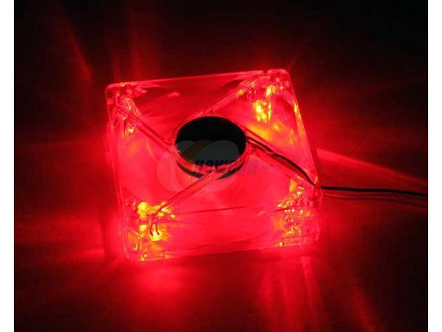 POWMAX FAN8CM-2 80mm Red LED Case Cooling Fan