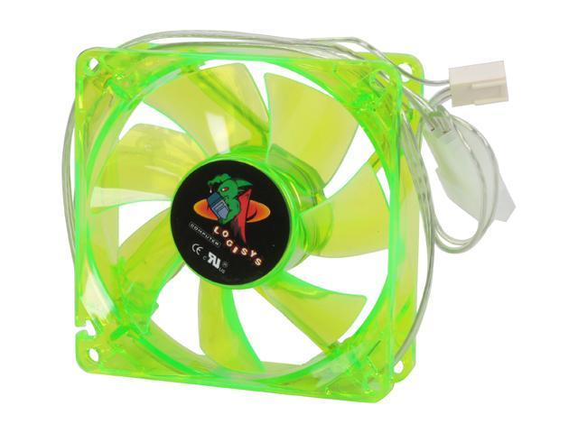 LOGISYS Computer LT80UVGN UV Green LED Case cooler
