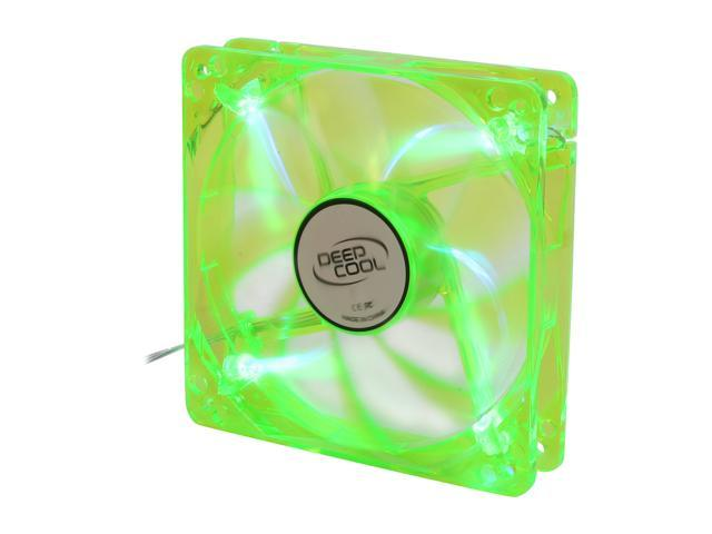 LOGISYS Computer CF120GB 120mm Blue LED 120mm Green Case Fan with Blue LED, 3 / 4 Pin