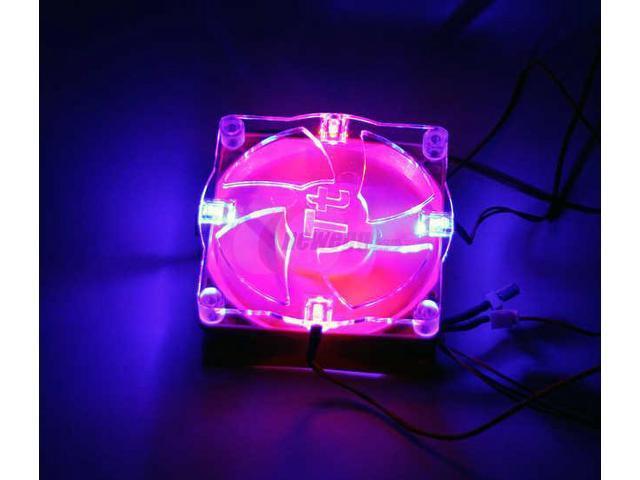 Thermaltake Smart Case fan II S FAN II w/COOLMOD CoolMod 4 LED Light (2 Blue & 2 Red) LED Case Cooling Fan