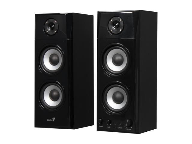 Genius SP-HF1800A 2.0 Three-way Hi-Fi Wood Speakers