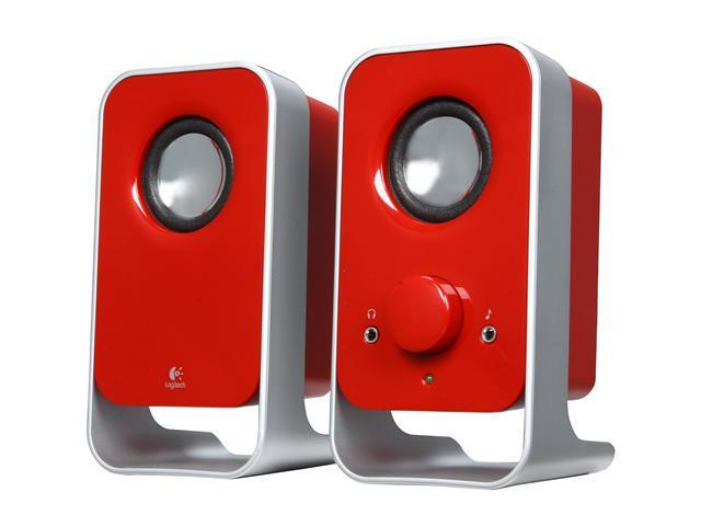 Logitech LS11 3 Watts RMS (FTC) 2.0 Stereo Speaker System - Red