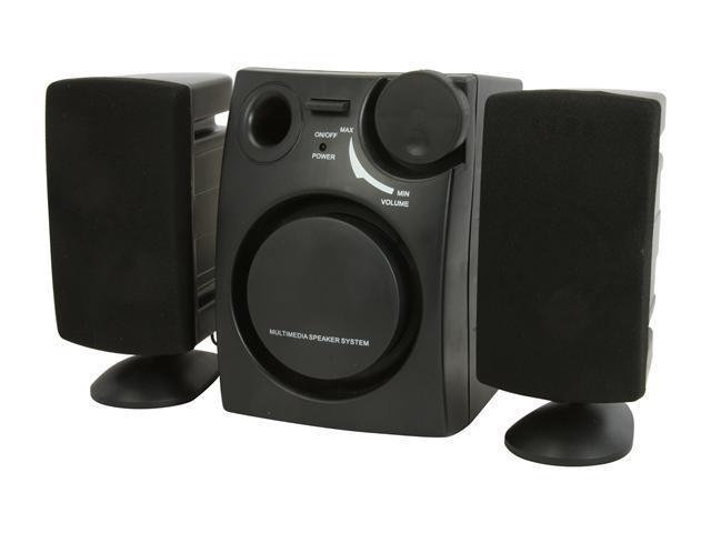 DCT Factory SPK-1050B 2.1 Black 3-Piece Power Subwoofer System
