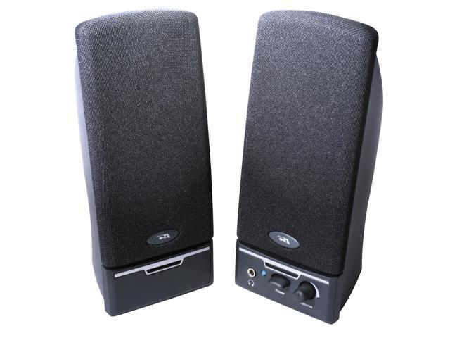 Cyber Acoustics CA-2012RB 1.5 Watts 2.0 Desktop Speaker System - Black