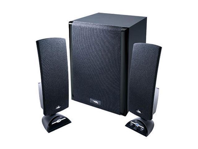 Cyber Acoustics CA-3402 20 Watts 2.1 3 Piece Flat Panel Design Subwoofer & Satellite Speaker System
