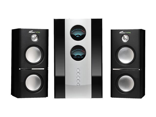 Eagle Arion ET-AR512LR-BK 2.1 Soundstage Speakers w/Subwoofer & Remote - 5.25