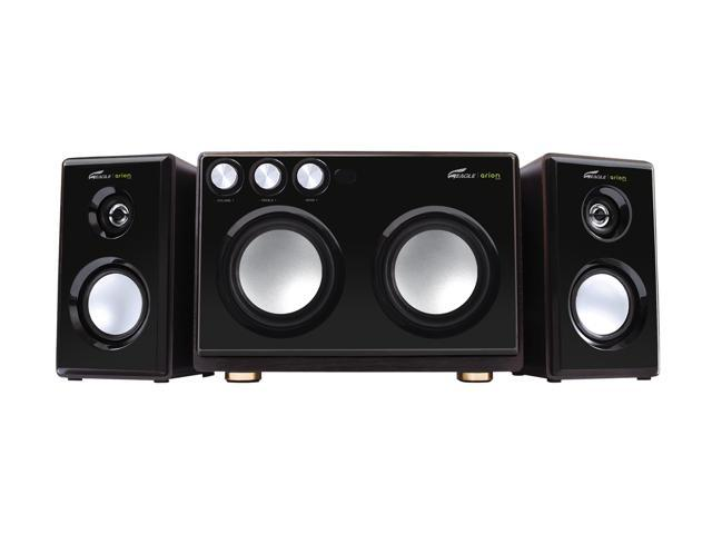Eagle ET-AR514R-BK 2.1 Arion Soundstage Speakers with Dual Subwoofers & Karaoke Inputs - 20Hz to 20kHz