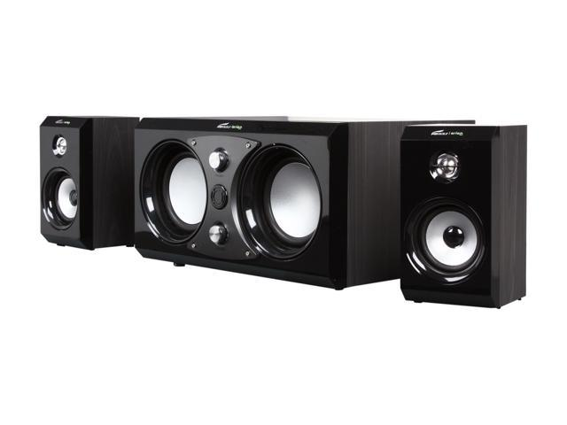 Eagle Arion ET-AR516R-BK 2.1 Soundstage Speakers with Dual Subwoofers & Remote - 40Hz to 18kHz, 100 Watts - Retail