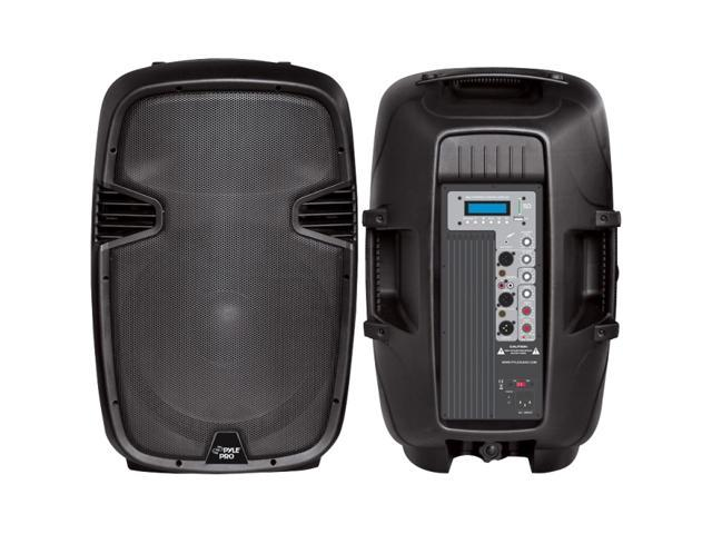 PylePro PPHP153MU 15'' 1000 Watt Powered Two-Way PA Speaker with MP3/USB/SD Playback