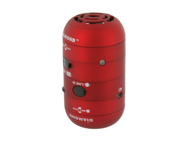 DIAMOND MSP100R 4 Watts 2.0 Mini Rockers Mobile Speakers - RED