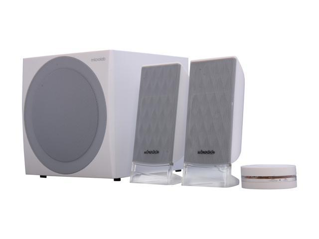 Microlab SP-FC20WH 85W 2.1 Powerful Subwoofer DSP Stereo Speakers (White)