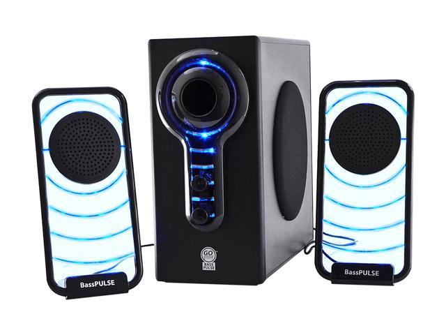 GOgroove BassPULSE Hi-Fidelity 2.1 Speaker Sound System with Subwoofer for PC , Mac , MP3 , iPod , Tablets , and Home-Theater