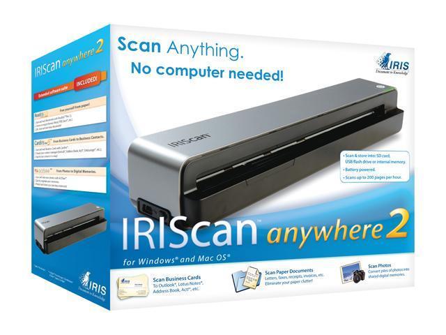 I.R.I.S IRIScan Anywhere 2 300dpi / 600dpi Sheet feed type (single) Scanner