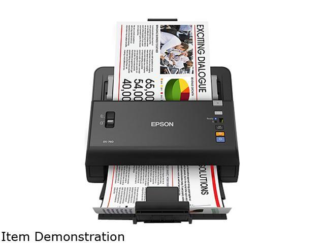 EPSON WorkForce DS-760 48 bit CIS 600 dpi Sheet Fed Document Scanner