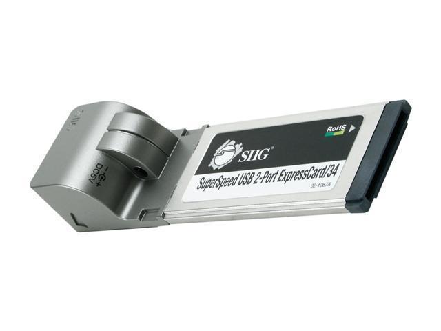 SIIG  JU-EC0112-S1 2-Port USB 3.0 SuperSpeed ExpressCard