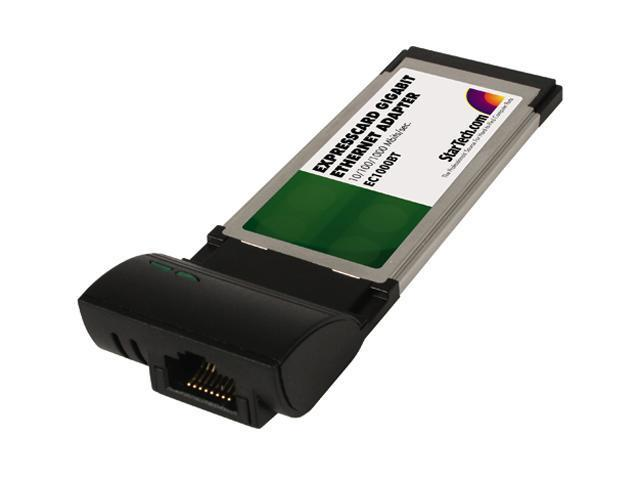 StarTech EC1000BT 1000 Mbps Gigabit ExpressCard Laptop Ethernet Network Adapter Card