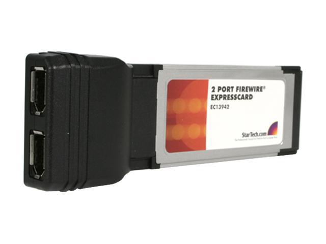 StarTech EC13942 2 Port ExpressCard Laptop 1394a Firewire Adapter Card