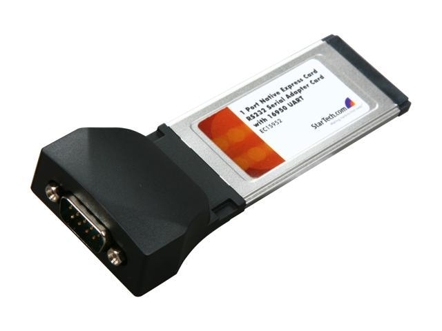StarTech  EC1S952  1 Port Native ExpressCard RS232 Serial Adapter Card with 16952 UART