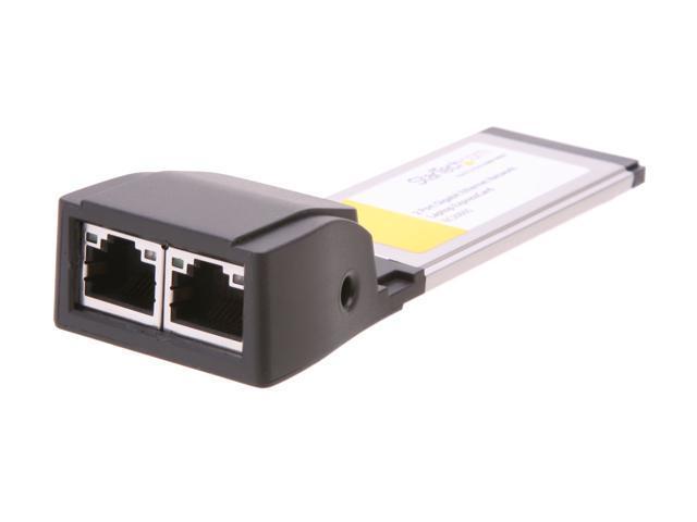 StarTech EC2000S Dual Port ExpressCard Gigabit Laptop Ethernet NIC Network Adapter Card