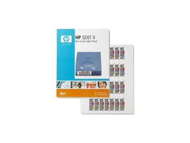 HP Q2006A Super DLTtape II Bar Code Label Pack 100 unique product/10 cleaning labels per pack