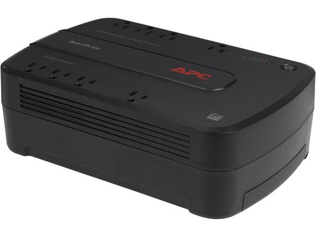 APC BE550G Back-UPS 550 VA 8-outlet Uninterruptible Power Supply (UPS) (Replaced by BE600M1)