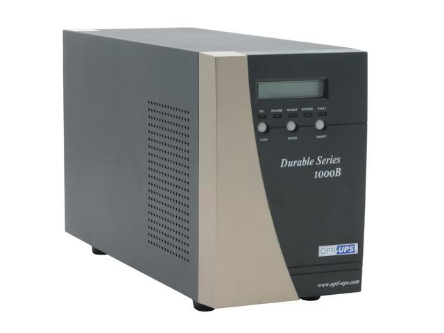 OPTI-UPS Durable Series DS1000B 1000VA 700W True Online, Double-Conversion, High Frequency Pure Sinewave UPS with AVR & Zero ...
