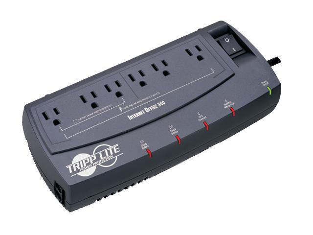 Tripp Lite 300 VA Standby UPS Back Up, 120V 150 Watts Ultra-Compact Desktop 6 Outlets, Tel / DSL / Ethernet Protection, TAA (INTERNETOFFICE300)