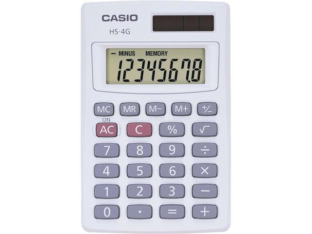 Casio HS-4G Handheld Solar Calculator